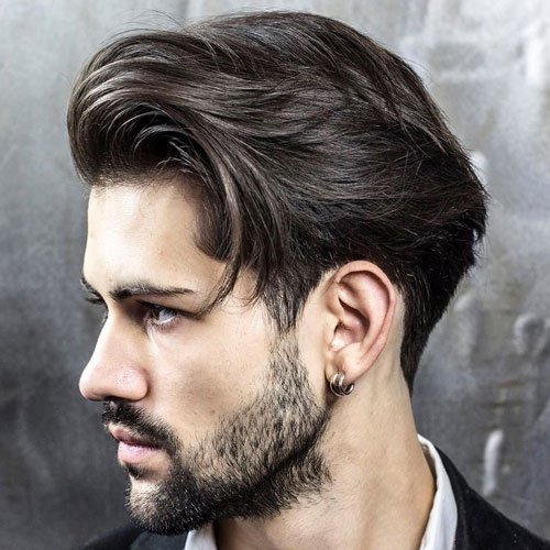 Textured Long Men's Hairstyle