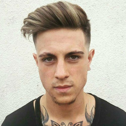 Beach Hairstyles - High Fade with Side Pompadour