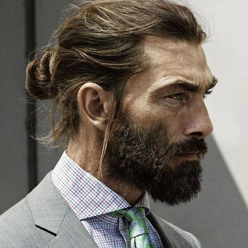 Best Man Bun Hairstyle