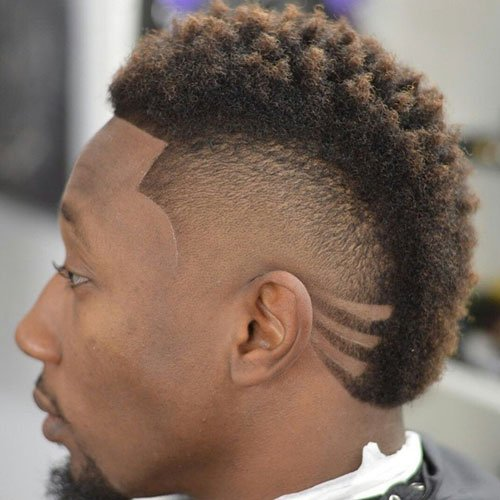 Black Men Mohawk Hairstyles