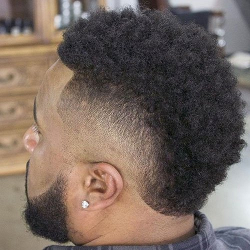 Black Men's Mohawk Haircut