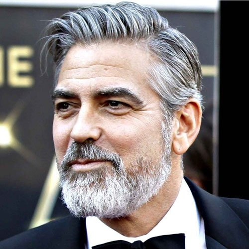 George Clooney Hair and Beard