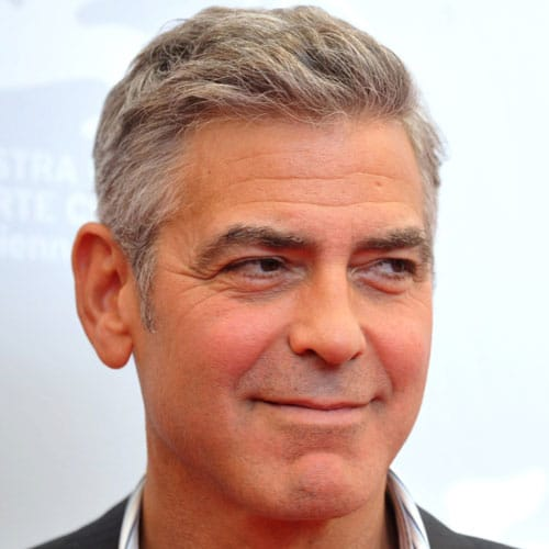 George Clooney Haircut - Comb Over