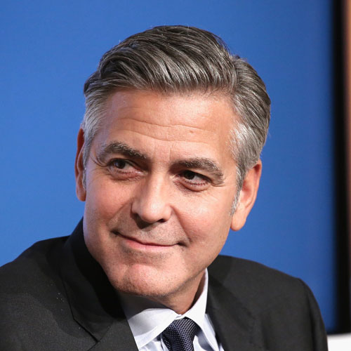 George Clooney Hairstyle - Grey Hair