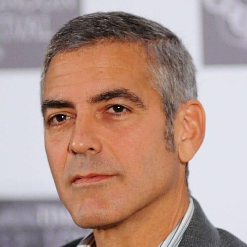 George Clooney Haircut   Men's Hairstyles + Haircuts 2017
