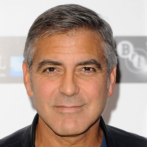 George Clooney Short Haircut For Men