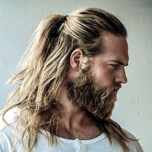 The Man Ponytail Ponytail Styles For Men Men S