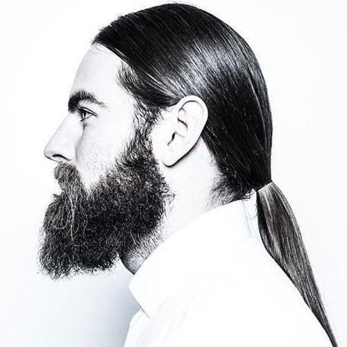 Long Ponytail For Guys