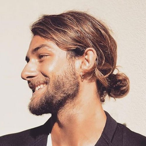 Low Man Bun + Beard