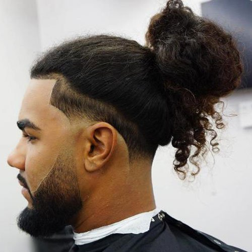 Low Taper Fade + Man Bun