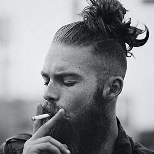 35 best man bun hairstyles 2019 guide. Black Bedroom Furniture Sets. Home Design Ideas