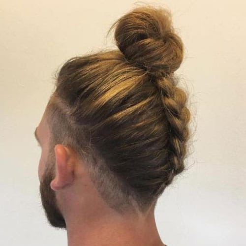 Man Bun with Braids