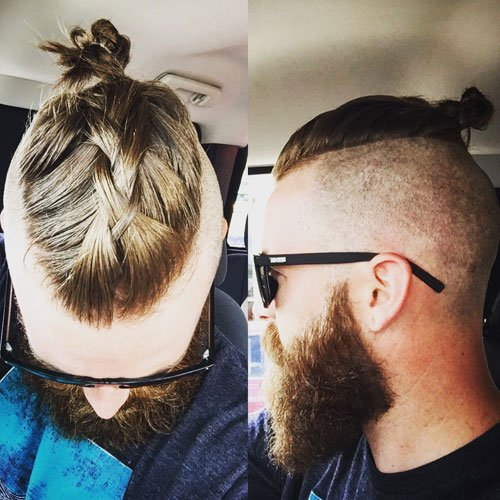 Elegant Man Top Knot Hairstyle