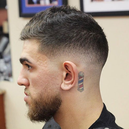 Manly Hair - Mid Fade with Short Textured Hair