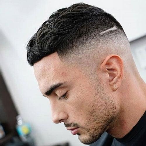 Short Caesar Cut Fade Hairstyle