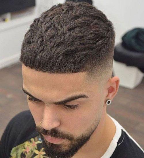 Short Caesar Fade Hairstyle
