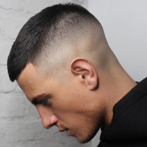 Short Crew Cut Fade + Shape Up