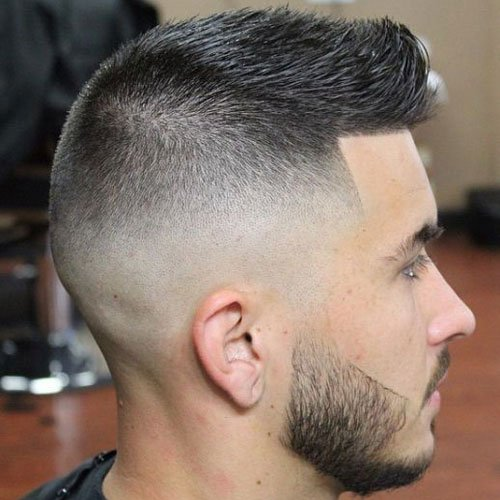 Short Spiky Hair Fade