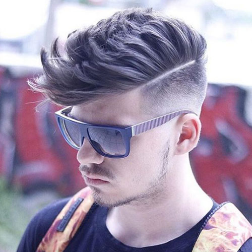 Summer Haircuts For Guys - High Fade with Quiff