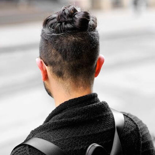 Top Bun Hairstyle For Guys
