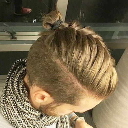 Top Knot Men's Hair