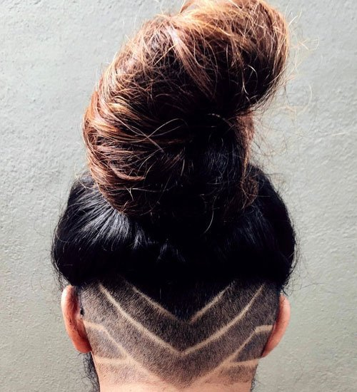 Undercut Man Bun + Hair Design