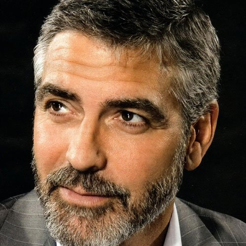 Young George Clooney Haircut and Beard