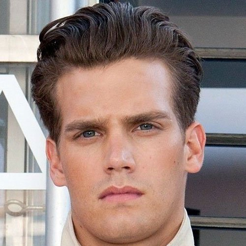 Classy Men's Hair - Thick Brushed Back Wavy Hair