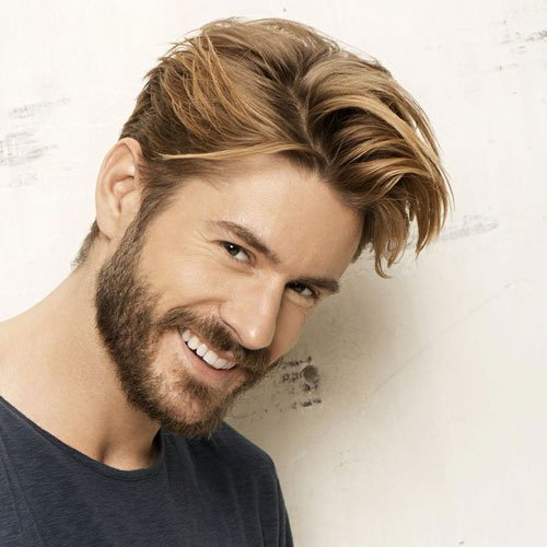 Classy Men's Haircut - Long Sides with Textured Comb Over