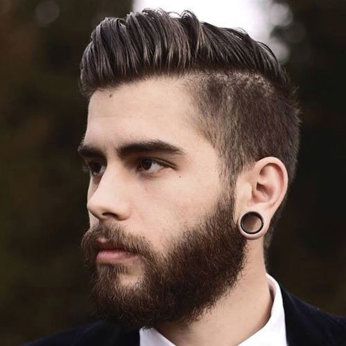 Classy Men's Hairstyles - Long Side Swept Hair