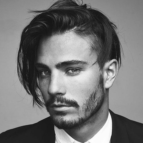 Pretty Boy Hairstyle - Undercut with Medium Length Hair