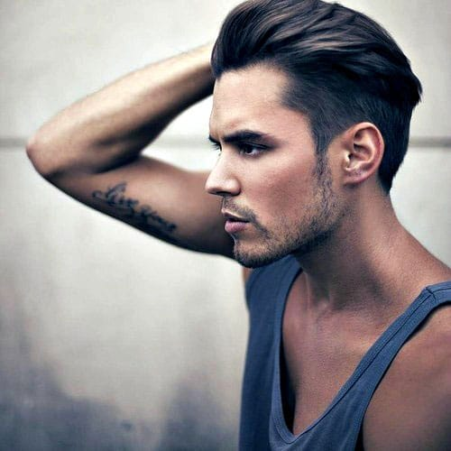 Frat Hairstyle - Textured Slicked Back Hair