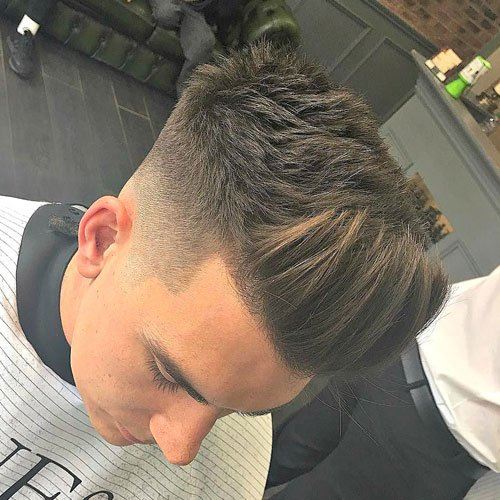 High Fade with Textured Spiked Up Hair