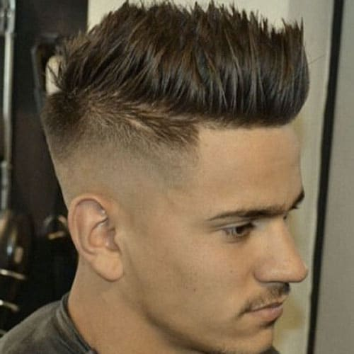 High Skin Fade with Spiky Hair