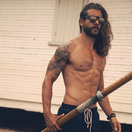 Long Surfer Hair For Men