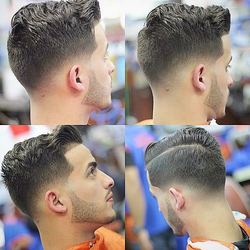 Wavy Comb Over Fade Hairstyles