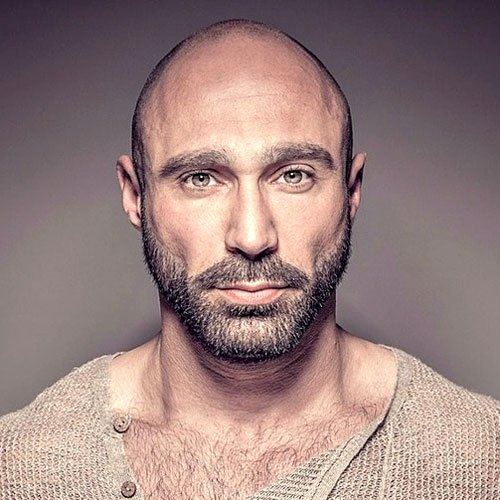 17 Bald Men With Beards