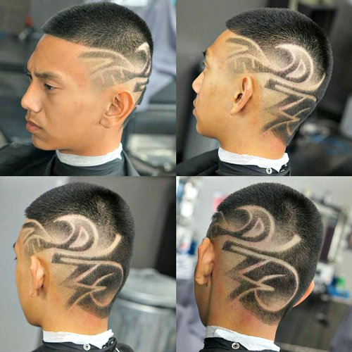 Barber Cuts - Buzz Cut with Designs