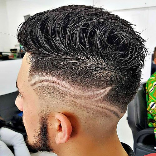 Barber Haircut Styles - Fade with Designs