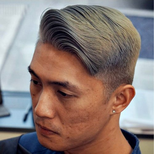 Barber Hairstyles - Short Sides with Side Swept Hair
