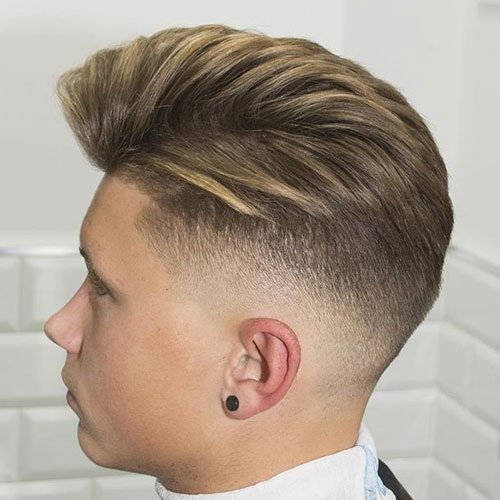 Barber Shop Haircuts - Mid Taper Fade with Loose Side Part