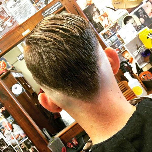 Barber Styles - Fade with V Cut