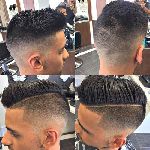 Barbershop Haircuts - Undercut with Comb Over