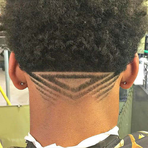 Men's V-Shaped Haircuts