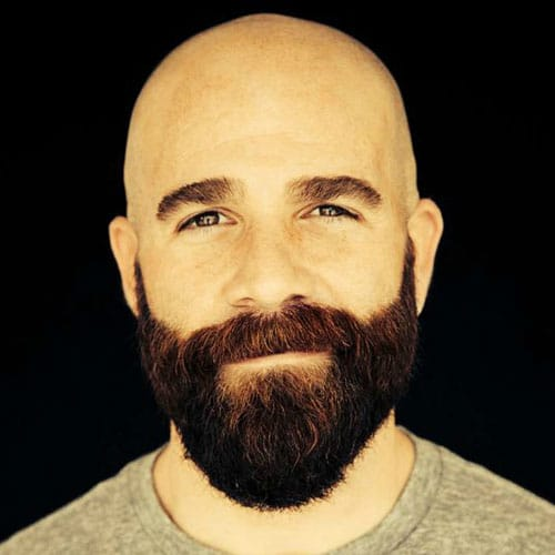 Shaved Head with a Full Beard