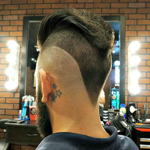 V Cut Hair For Guys