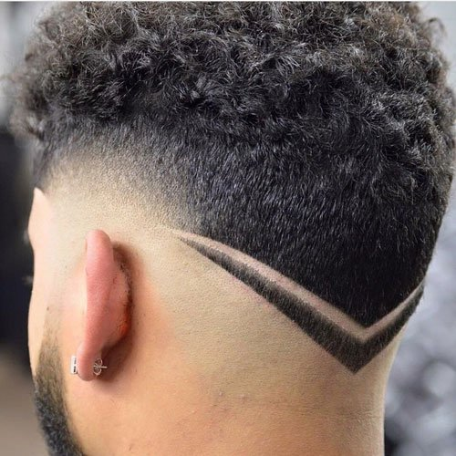 V-Shaped Haircut For Men