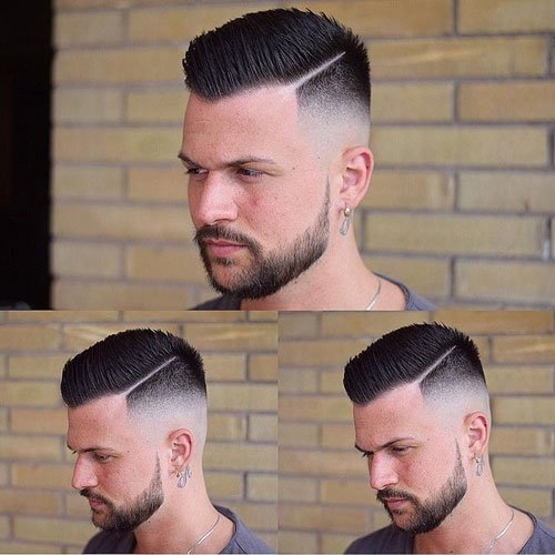 Superior Balding Haircuts   High Skin Fade With Spiky Come Over