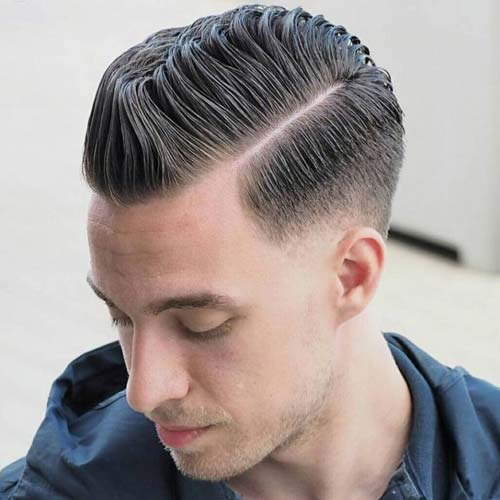 Balding Hairstyles  Low Fade With Side Part