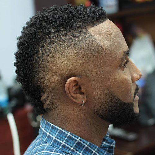 Burst Fade Mohawk For Black Men